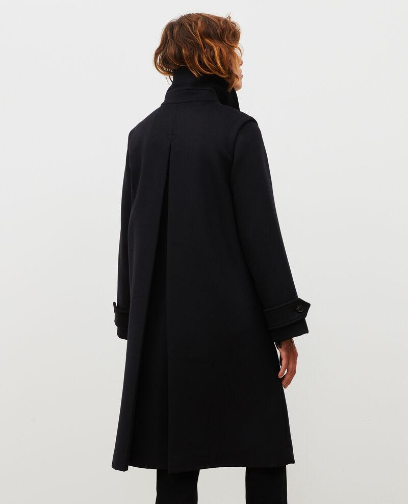 Manteau évasé en laine et cachemire Black beauty Madriat