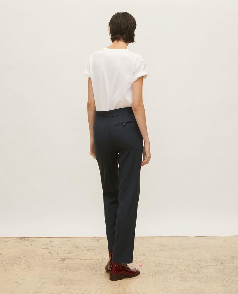 Pantalon MARCELLE, droit en laine masculin Dark navy Lisabelle