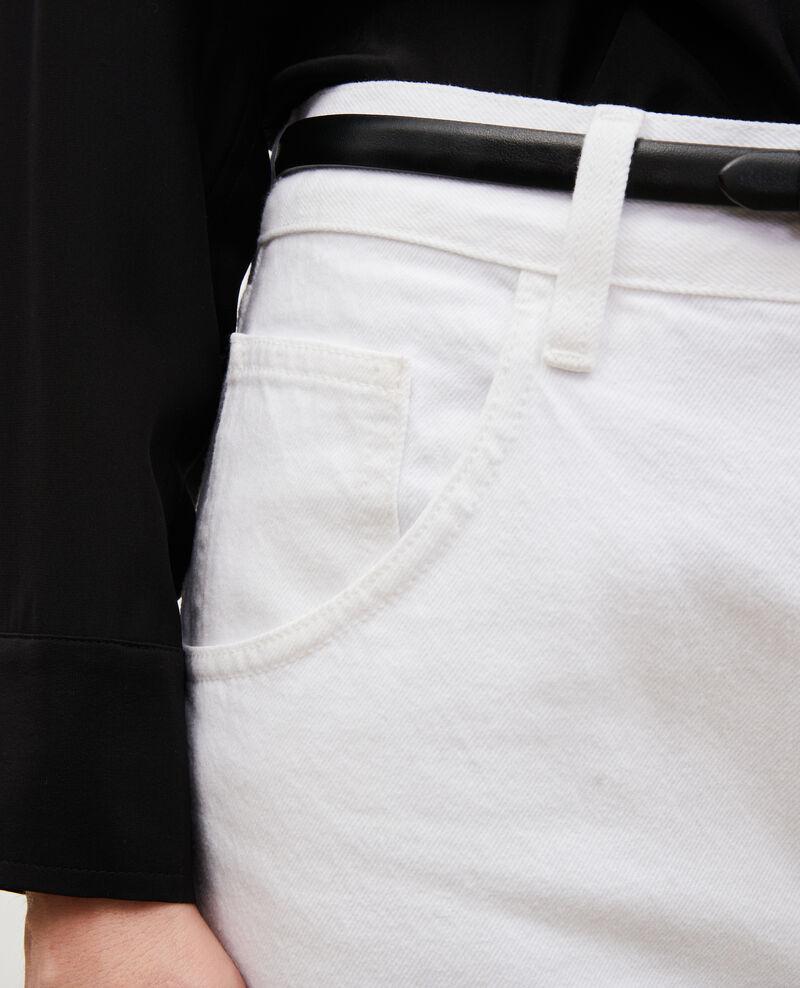 TOMBOY - Jean ample taille mi-haute 5 poches Winter white Meroni