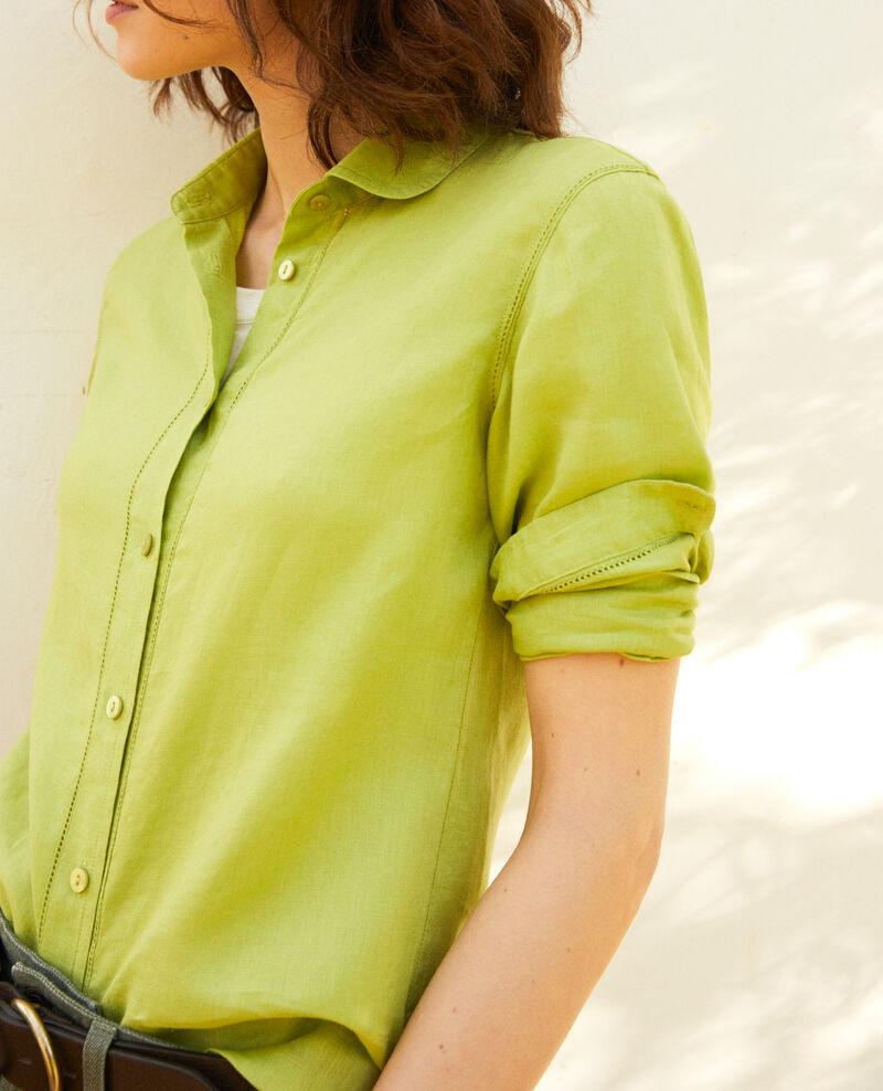 Chemise en lin Lime green Igram