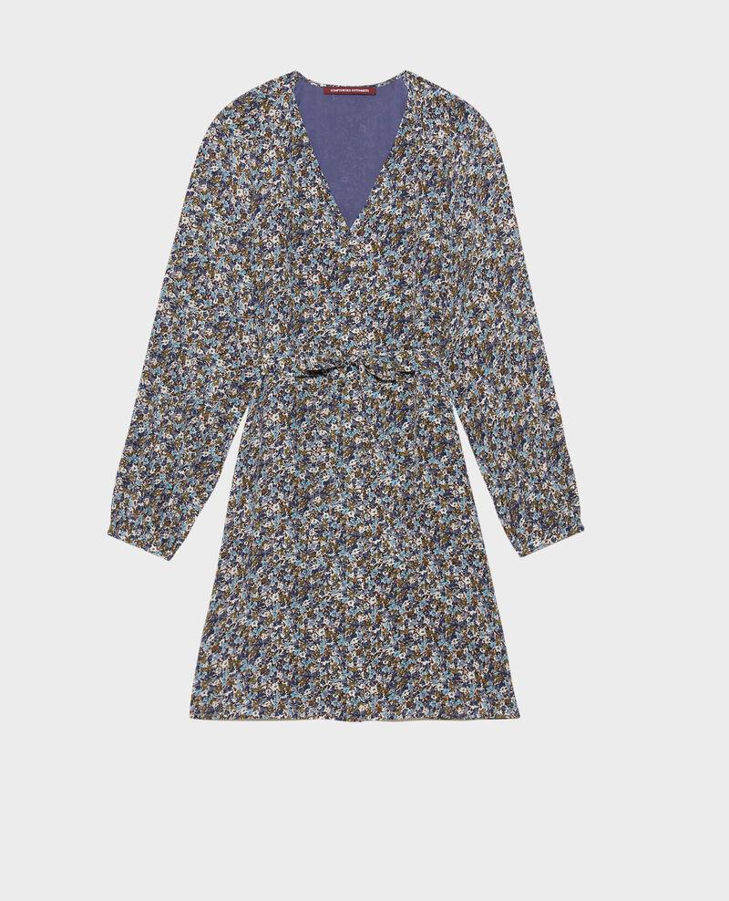 Robe courte en soie Liberty green Pavishy