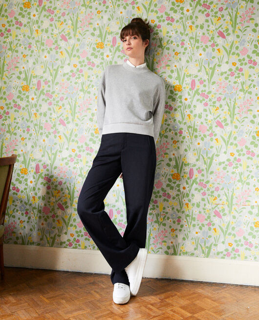Sweatshirt court LIGHT GREY
