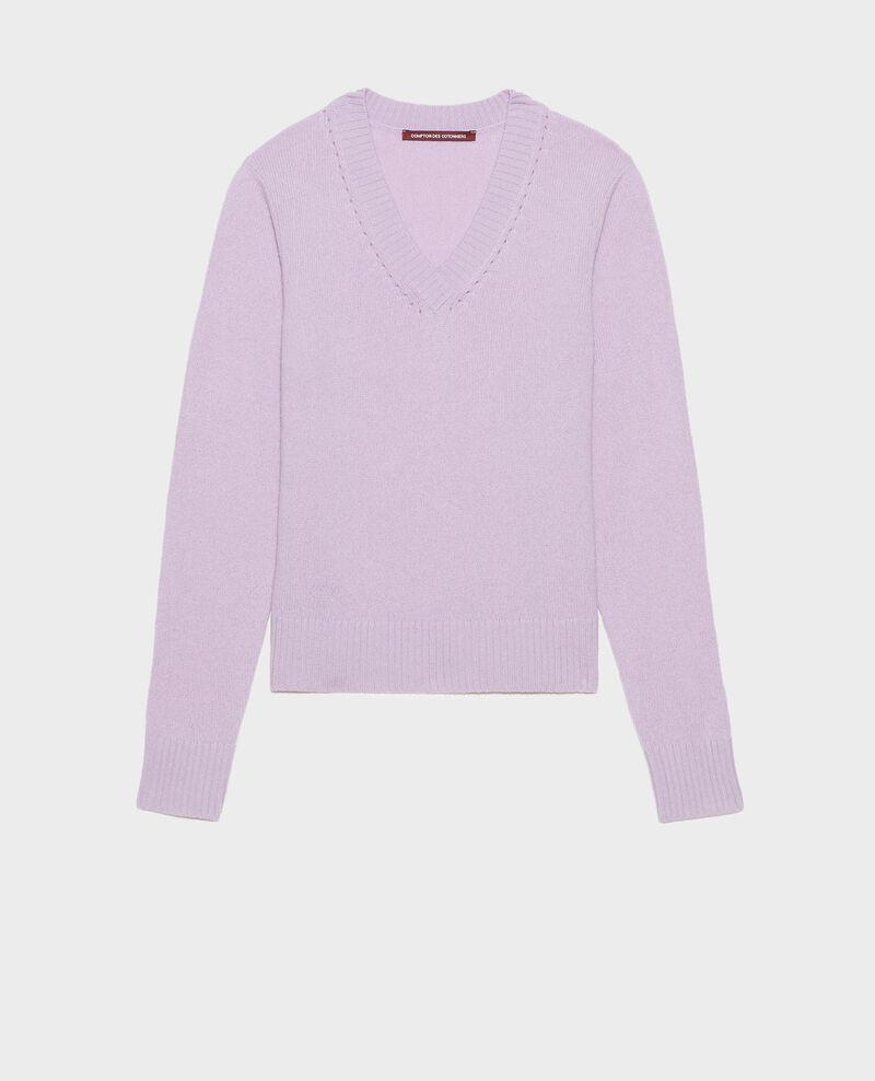 Pull en cachemire à col V Pastel lilac Millac