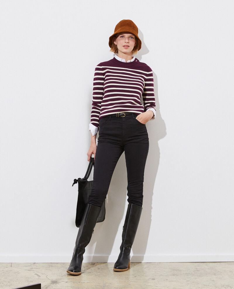 DANI - SKINNY - Jean taille haute 5 poches Black beauty Pozakiny