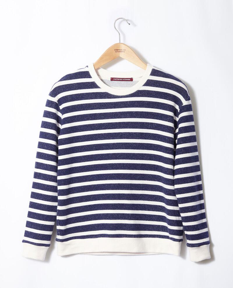 Sweatshirt marinière Off white/peacoat Gikrame