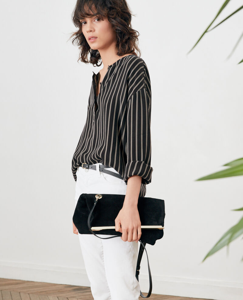 Blouse rayée Black/off white stripes Fraise