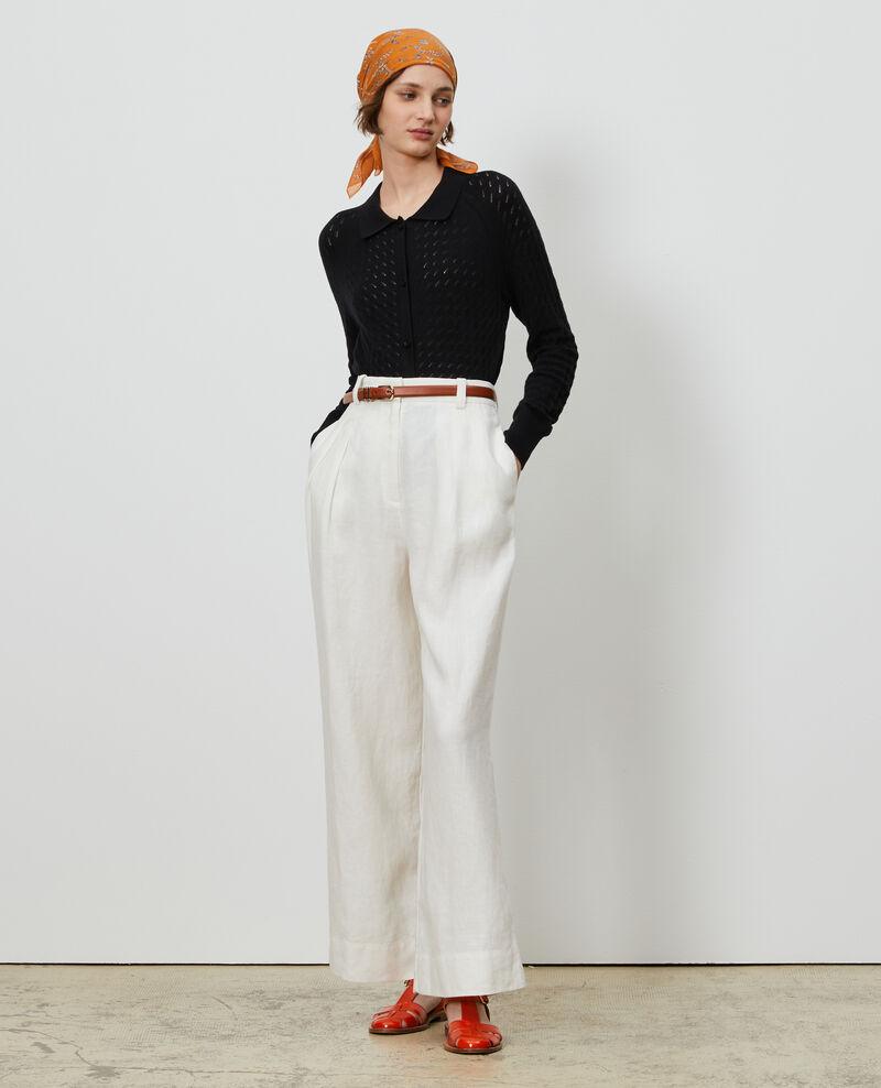 Cardigan en coton et lin Black beauty Novo