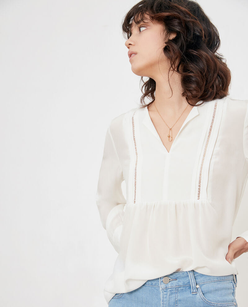 Blouse en soie Off white Fippex