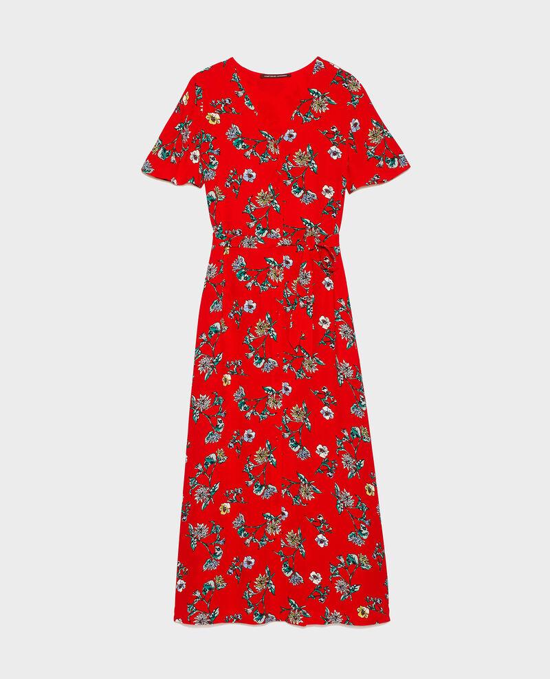 Robe longue en viscose crêpe Herbier fiery red haze Lavish