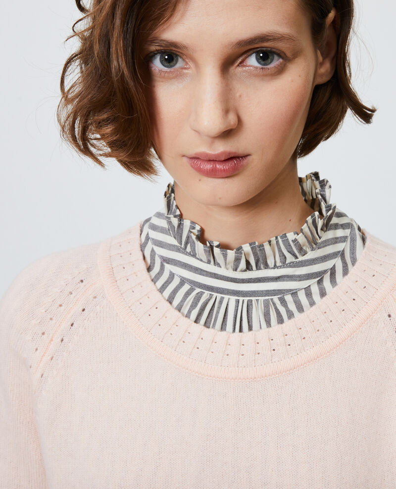 Pull en cachemire à col rond Seashell pink Nogna