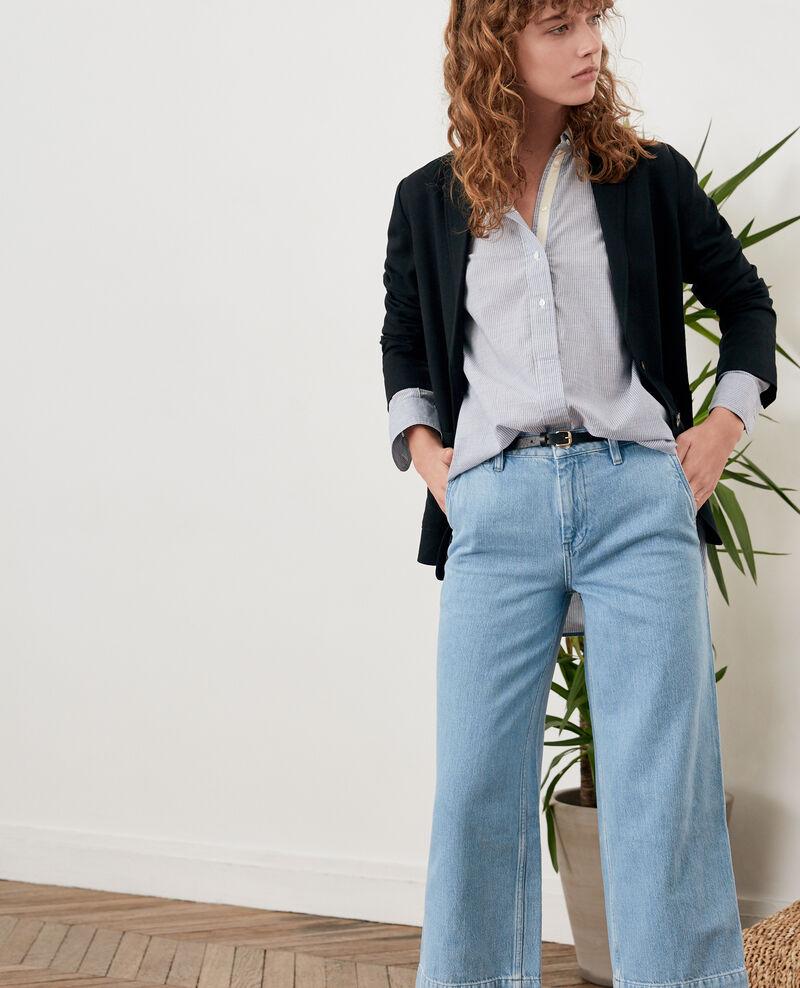 Jeans wide cropped Light indigo Fropigo