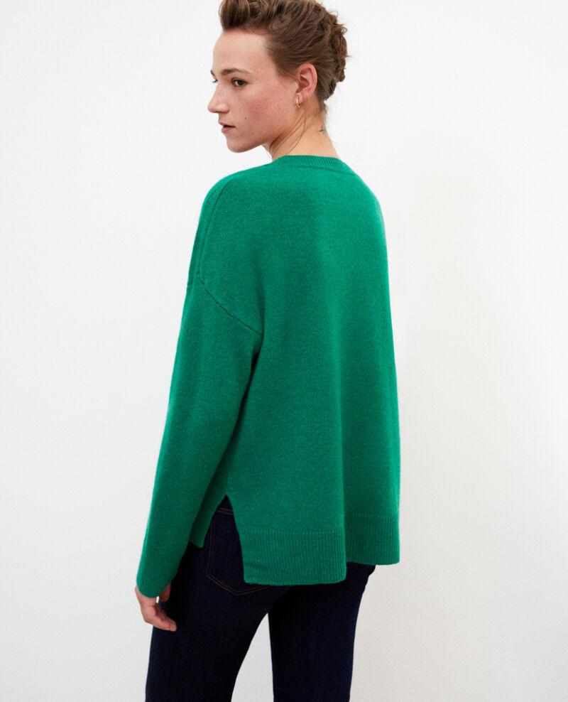 Pull en cachemire Ultra green Geraldine