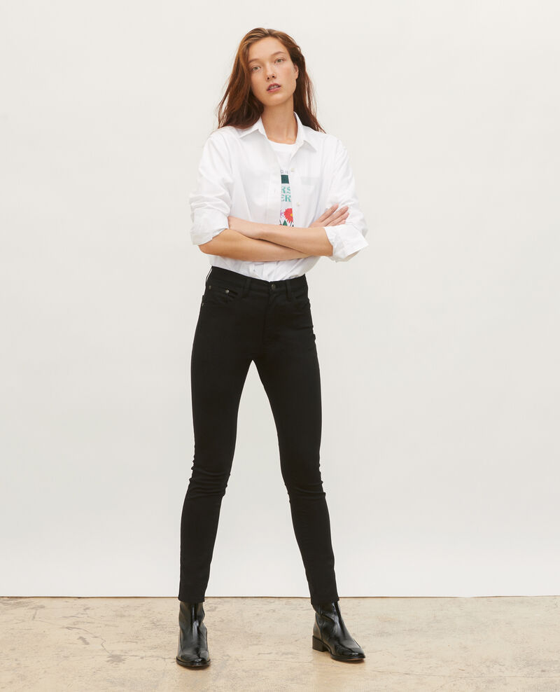 SKINNY - Jean 5 poches Black beauty Mozakiny