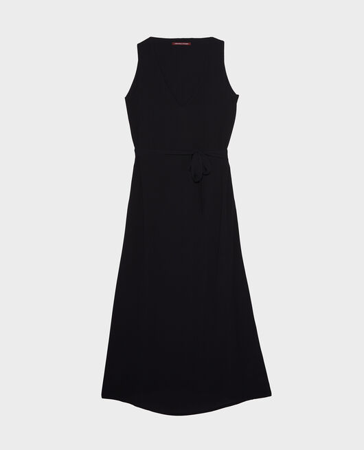 Robe fluide en viscose crêpe BLACK BEAUTY