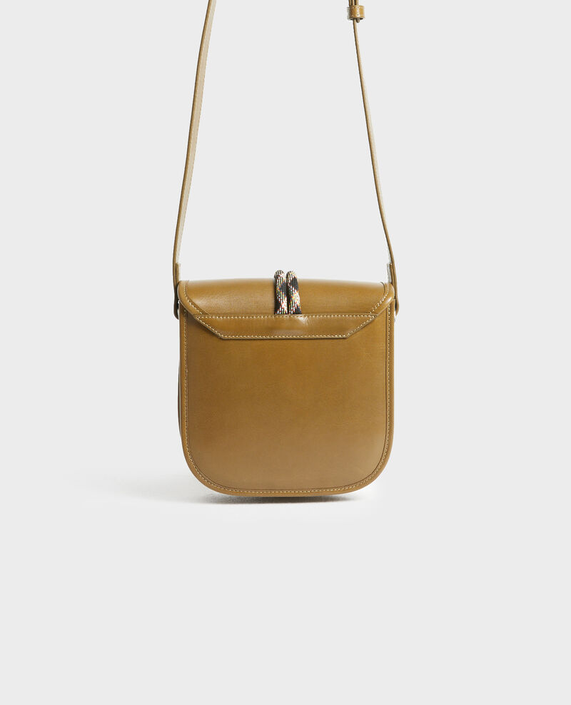 Petit sac bandoulière en cuir  Dark olive Peretbelair