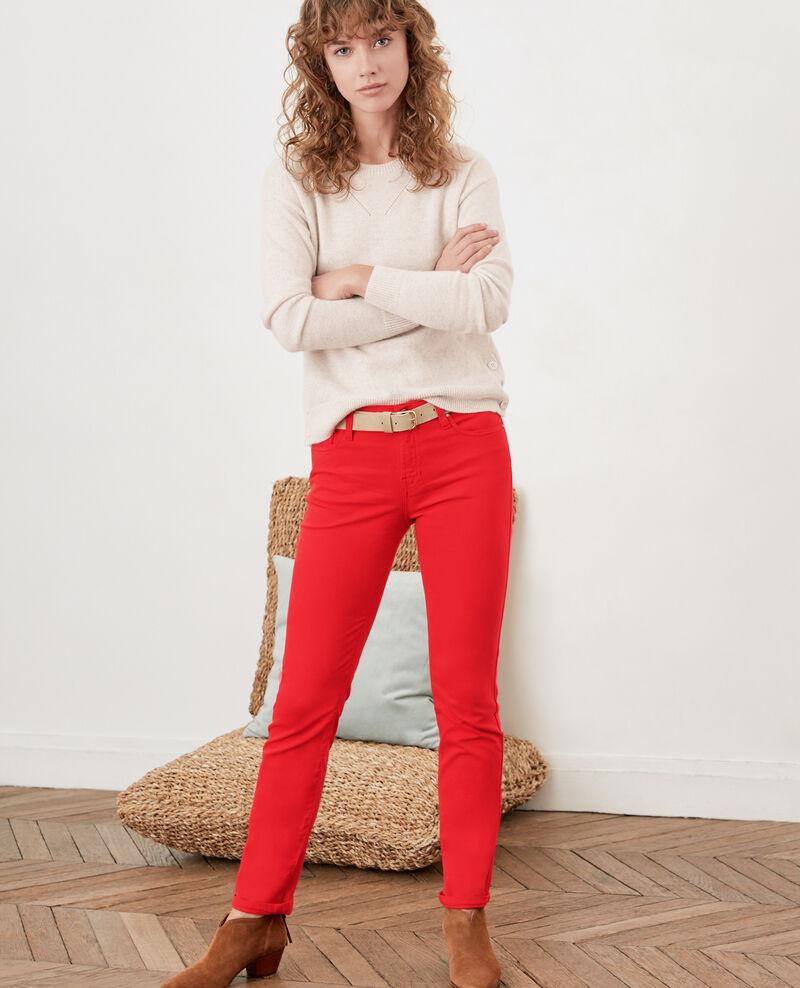 Bas De Vetements Femme Taille 34 Xs Rouge Ventes Privees Vip