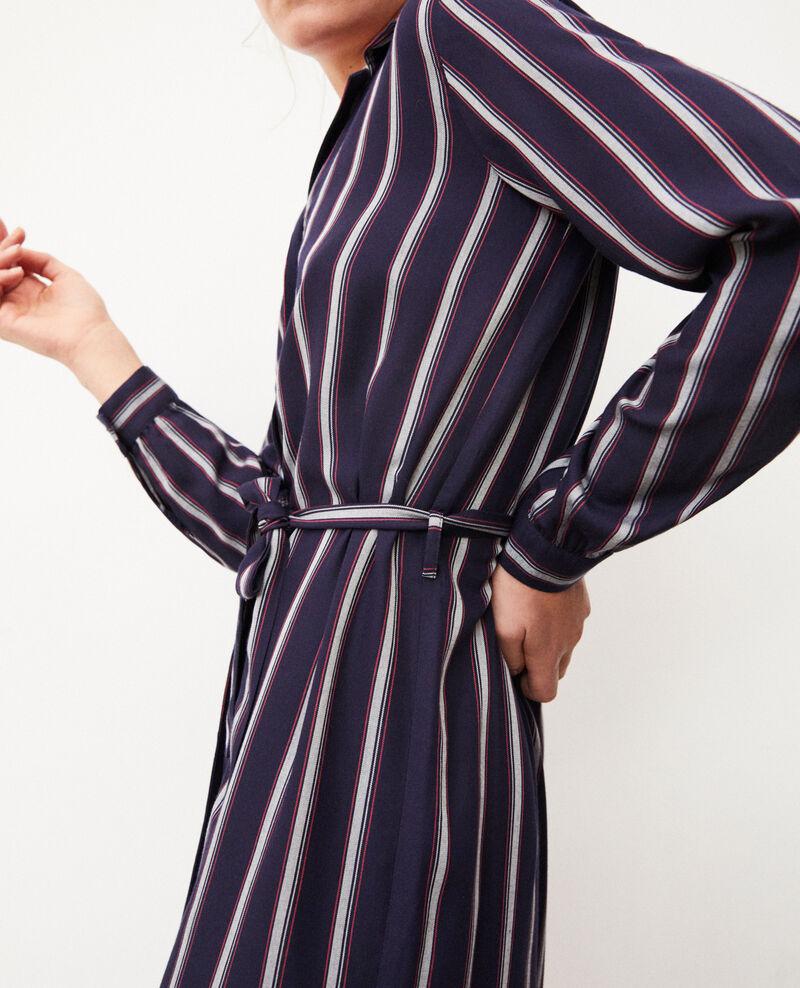 Robe chemise à rayures Peacoat Gloria