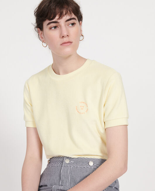 T-shirt en éponge 100% coton  TENDER YELLOW