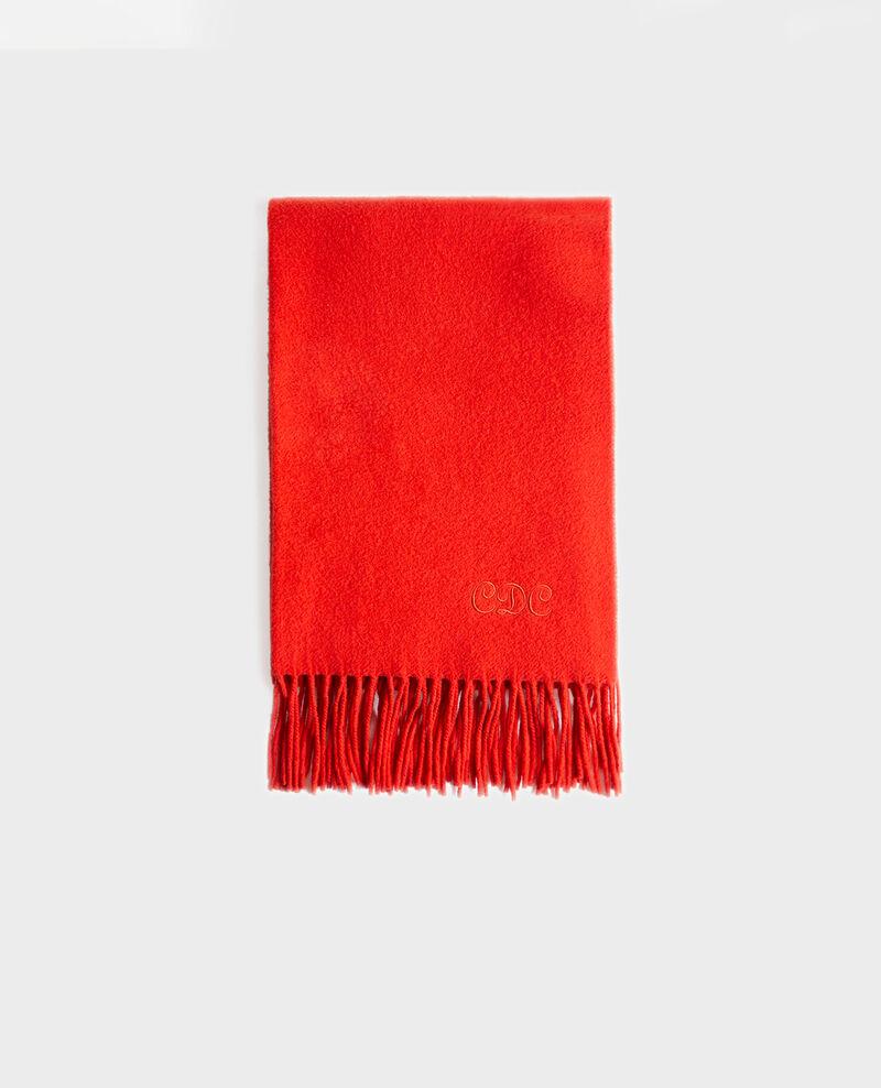 Grande écharpe à franges en laine Valiant poppy Mautes