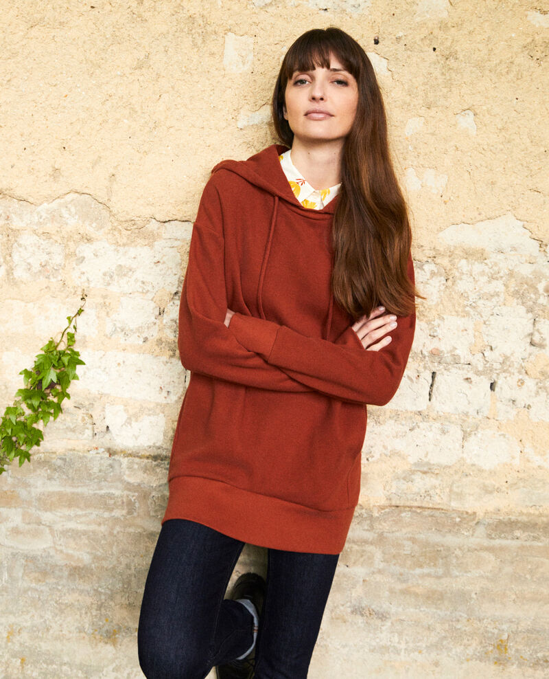 Sweatshirt à capuche Brandy brown Jasette