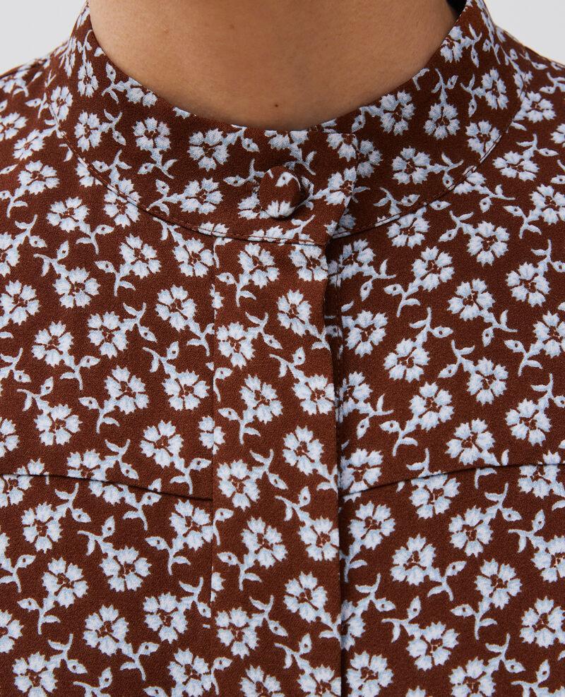 Blouse à manches longues à imprimé fleuri Print fleurettes tortoise shell Manrant