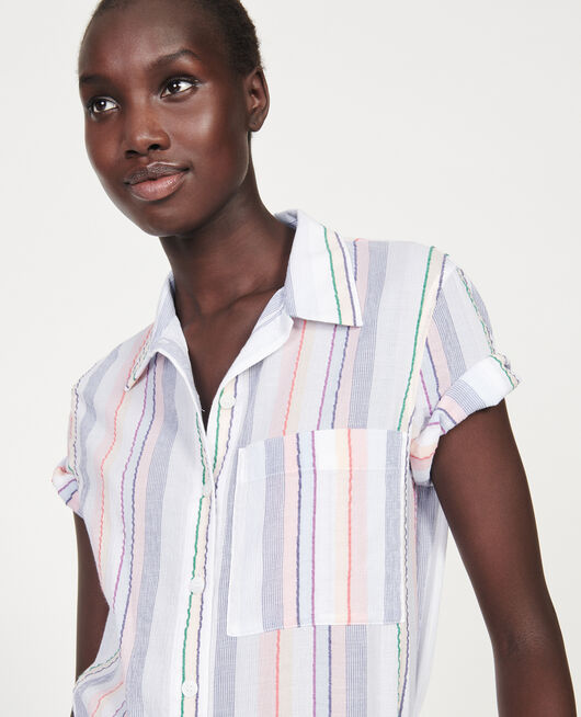 Chemise en coton STRIPES MULTICO