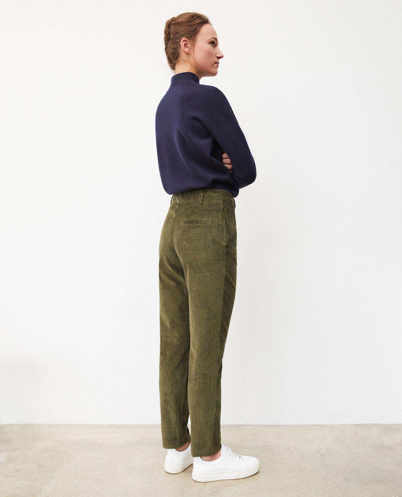 pantalon cotelé femme