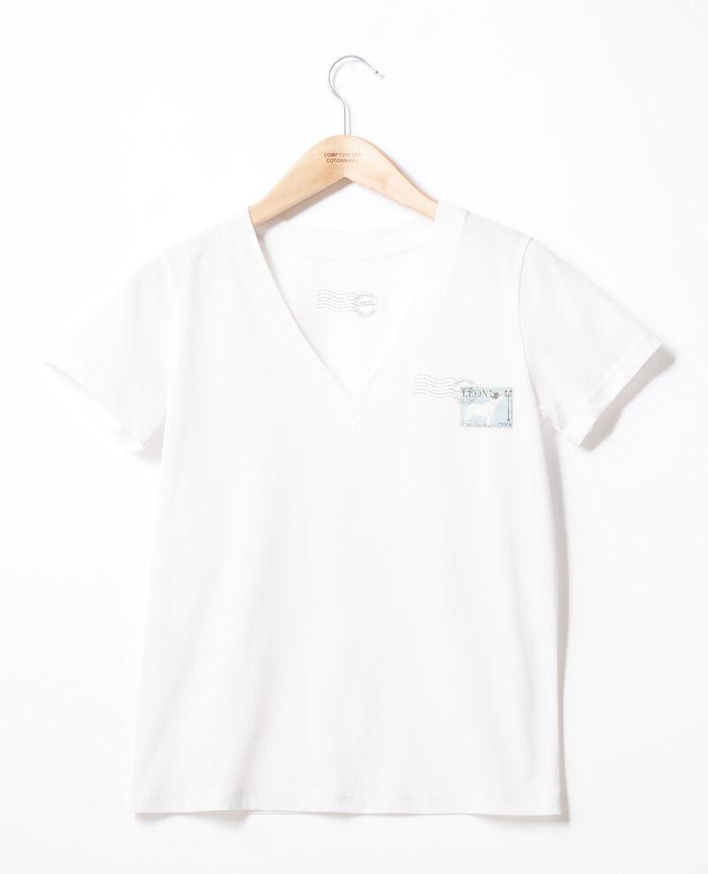 T-shirt Léon Off white Fimbre