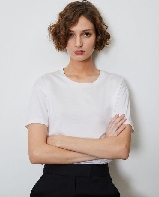 T-shirt classique en coton OPTICAL WHITE
