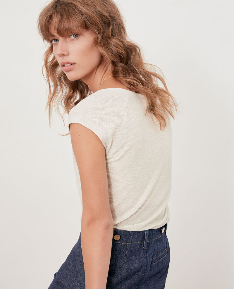 T-shirt irisé avec lin Chalk Falexia