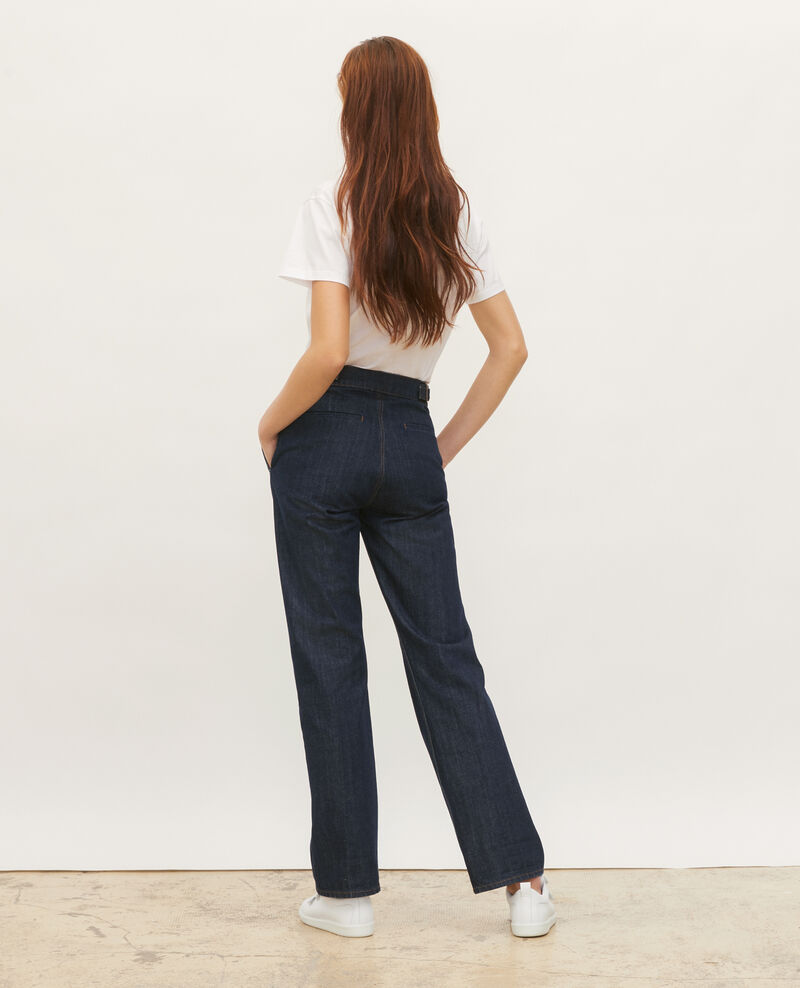 FLARE STRAIGHT - Pantalon ajusté en denim brut Denim rinse Mibbie