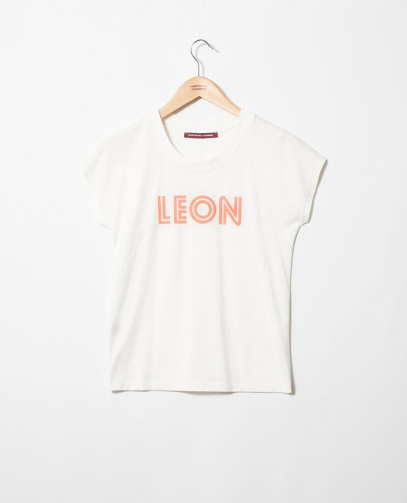 "T-shirt ""Léon"" Ow/salmon pink Ithera"