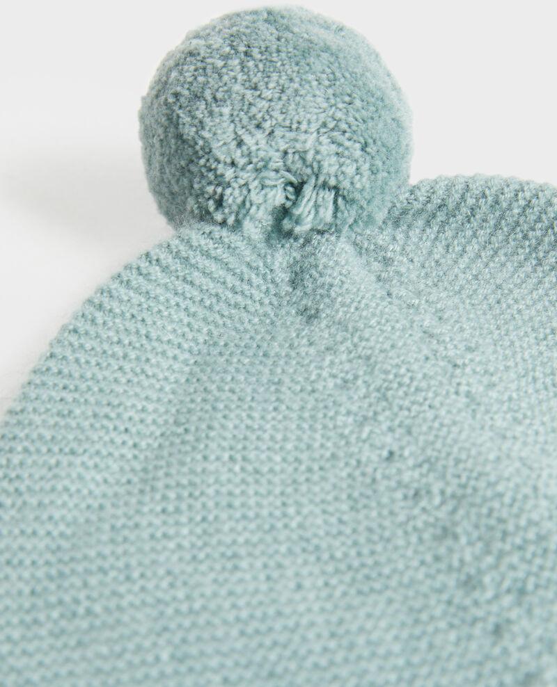 Bonnet en cachemire à pompon Chinois green Mimizan