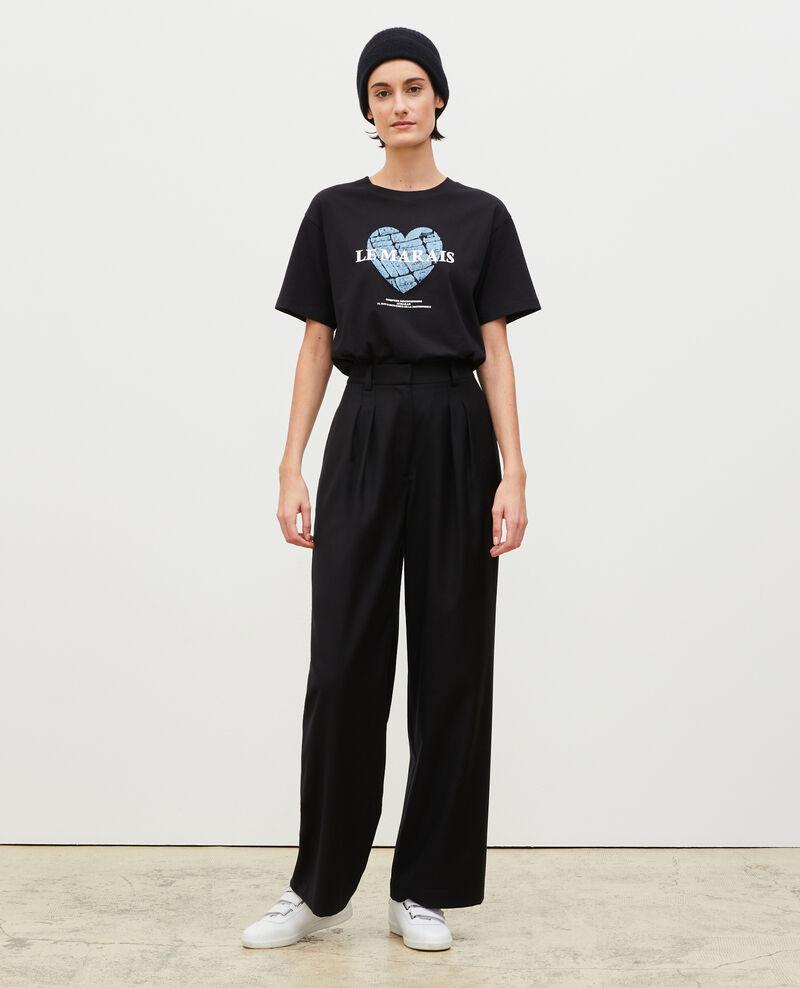 T-shirt en coton manches courtes Black beauty Mia
