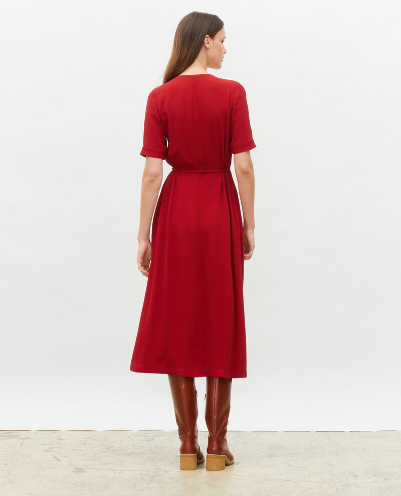 Robe portefeuille longue en viscose Royale red Meymac