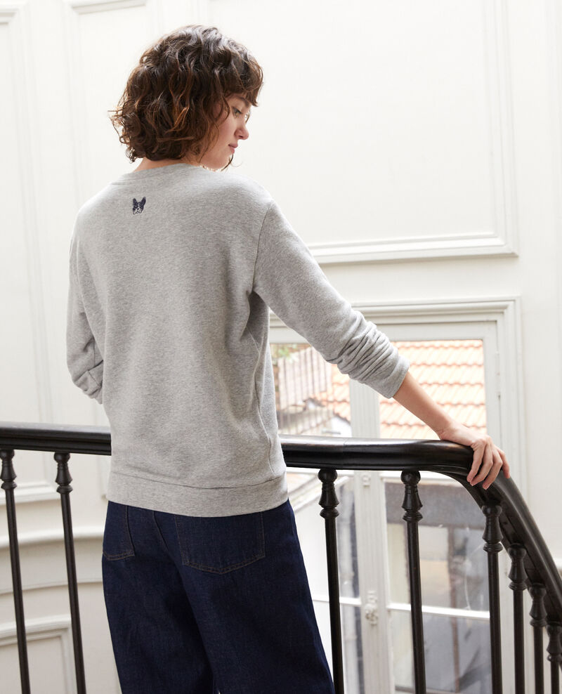 Sweatshirt brodé Léon Chine grey/peacoat Gleon
