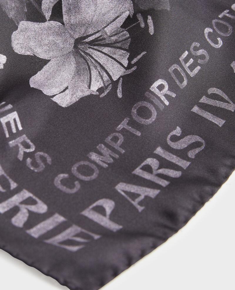 Foulard carré de soie Black beauty Maraiche