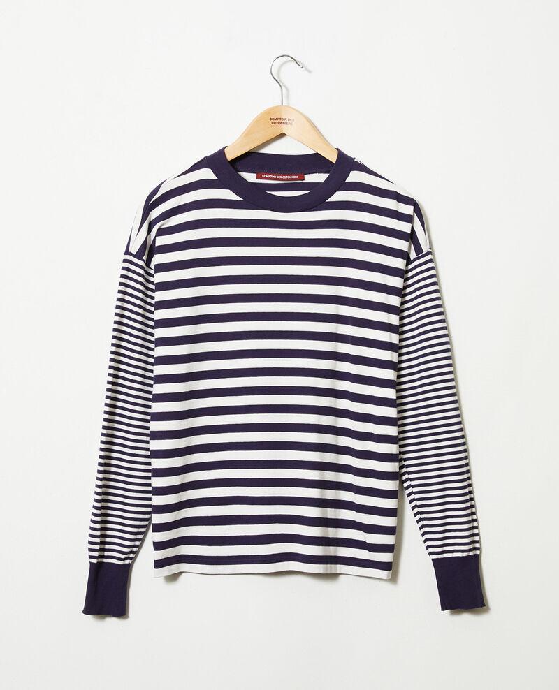 T-shirt marinière en coton Butter/evening Jeidala