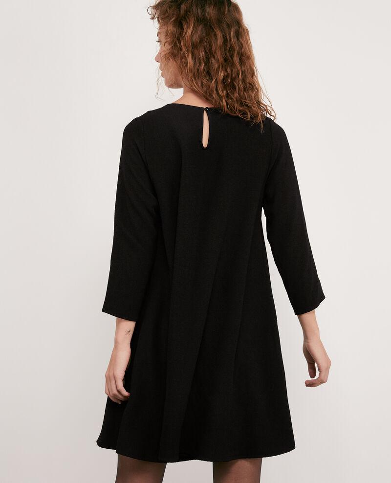 Robe avec un col claudine Noir Donatella