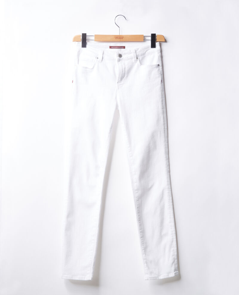 Jeans cigarette Off white Figossa