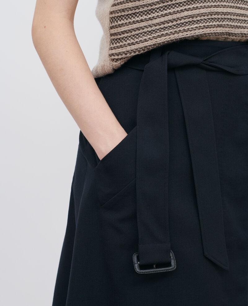 Jupe portefeuille en laine Black beauty Padarac