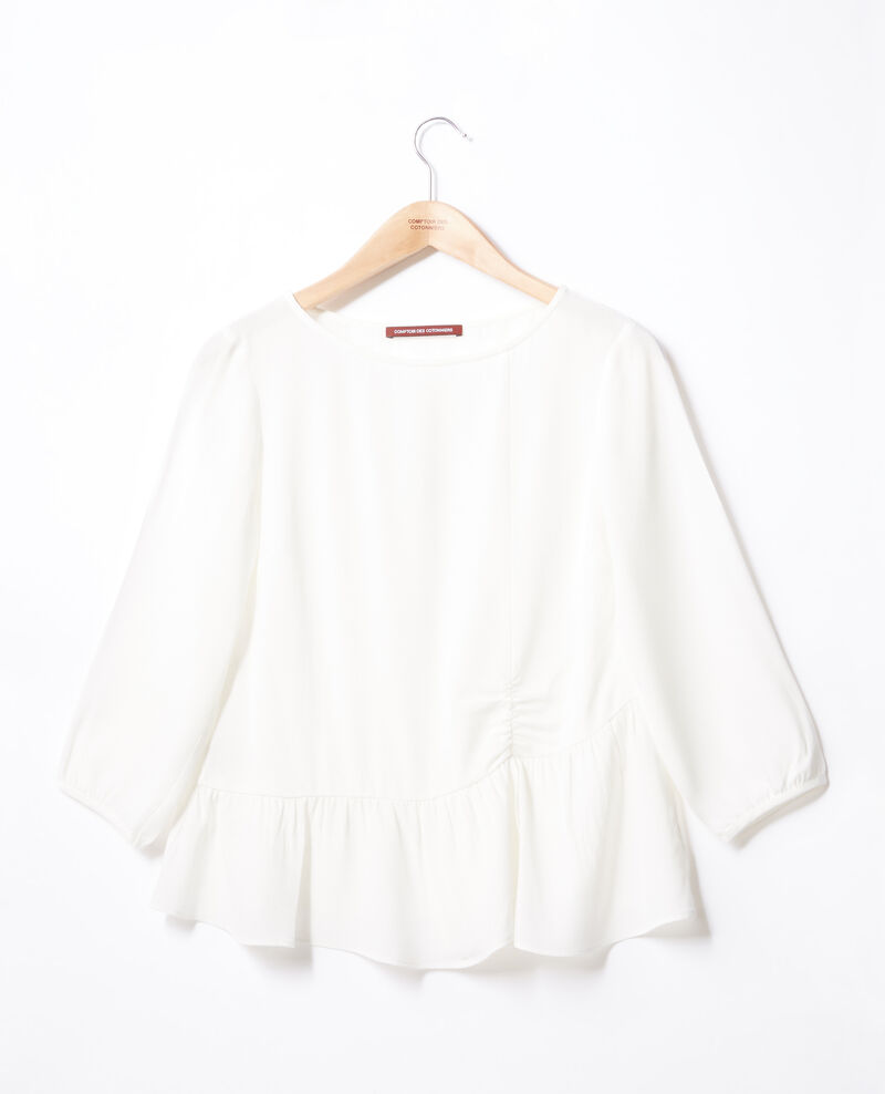 Blouse à volant Off white Fontaine