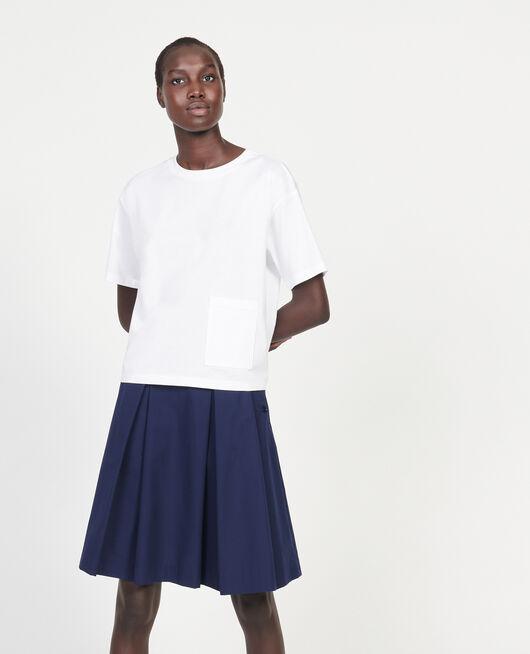 T-Shirt boxy en coton mercerisé OPTICAL WHITE