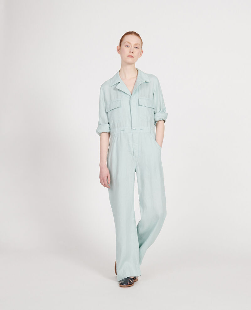 Combinaison pantalon en lin Blue haze Lachassain