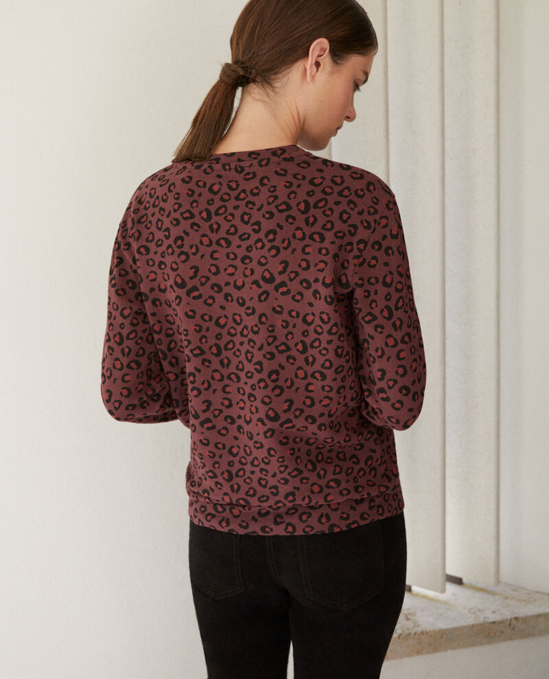 Sweatshirt col rond Leopard decadente chocolate 9gleon