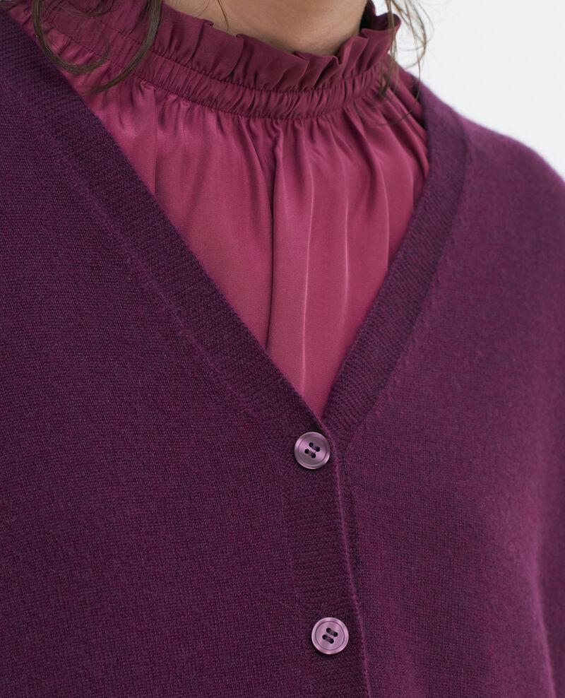 Cardigan ample 3D en cachemire Potent purple Paltazar