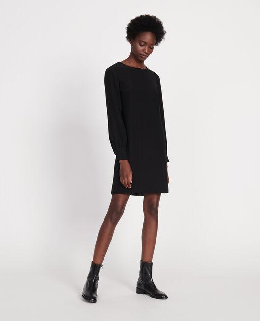 Robe en crêpe de chine BLACK BEAUTY