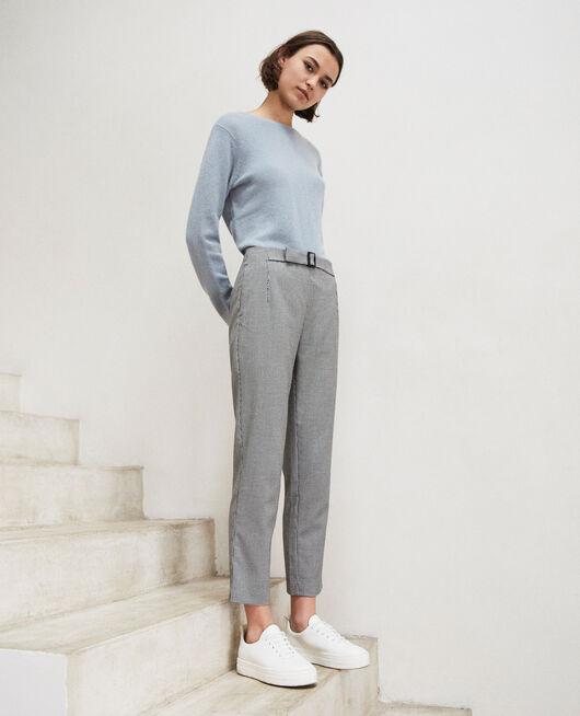 Pantalon coupe droite CHAMPAGNE/NOIR
