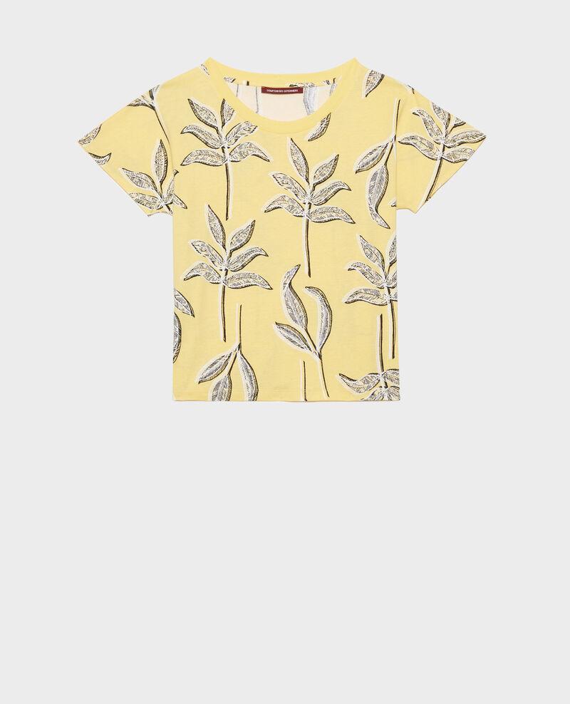 T-shirt col rond en coton Prt bot lemon Nimeric