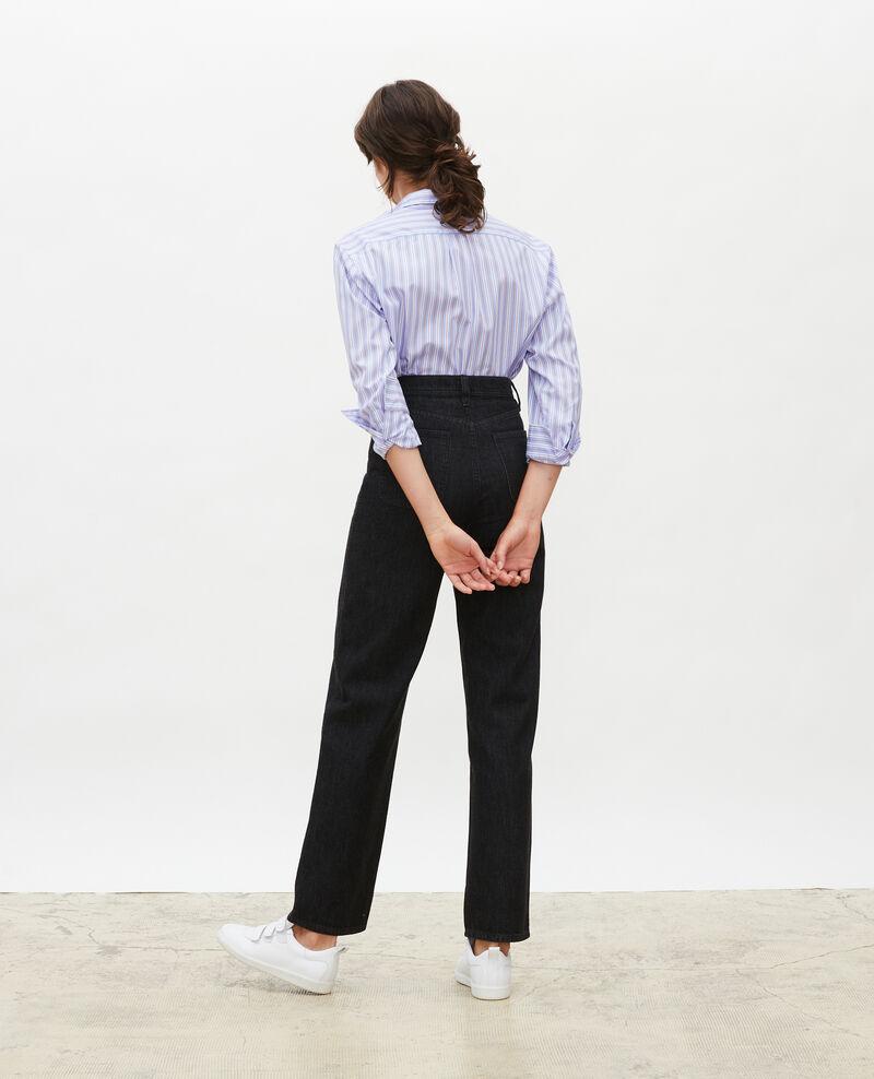 REAL STRAIGHT - Jean noir taille haute 5 poches Noir denim Merlines